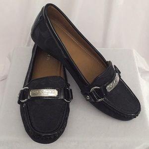 """9498e841373 Coach """"Felisha"""" Signature Jacquard Loafers Size 6"""